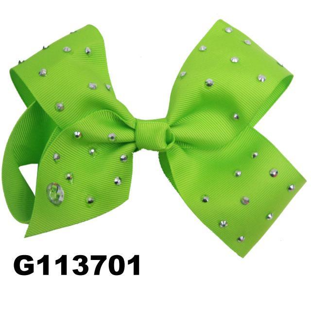 boutique big glitter crystal stone ribbon hair bow 2