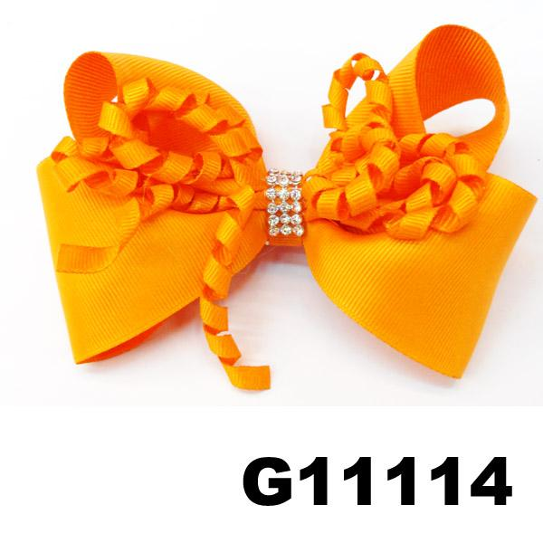 boutique big glitter crystal stone ribbon hair bow 5