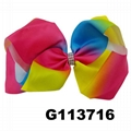 boutique baby girls kids large rainbow ribbon hair bows wholesale