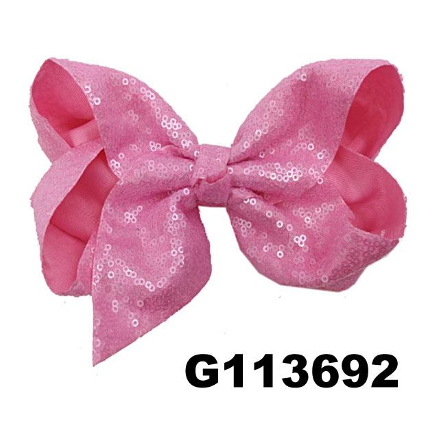 boutique baby girls kids glitter sequin ribbon hair bows wholesale 1
