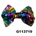 boutique baby girls kids glitter sequin ribbon hair bows wholesale 5