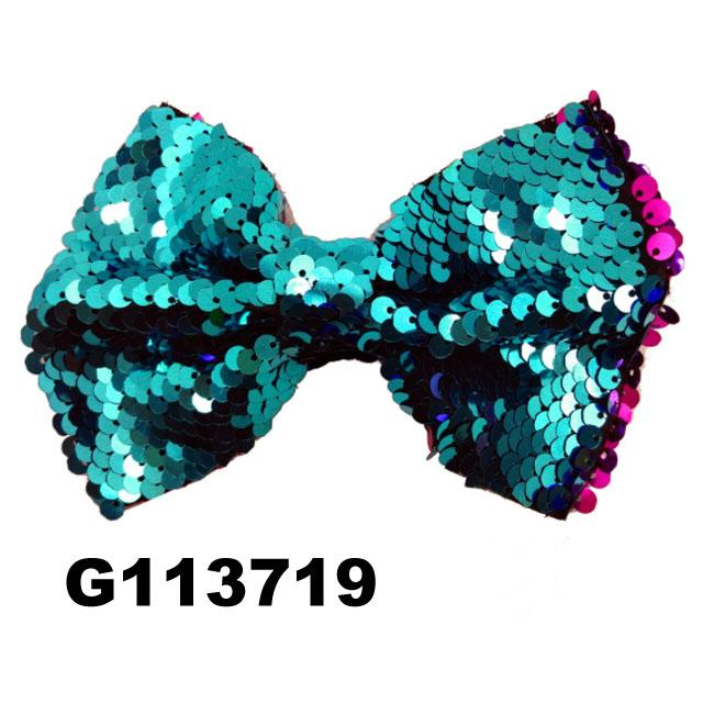 boutique baby girls kids glitter sequin ribbon hair bows wholesale 7