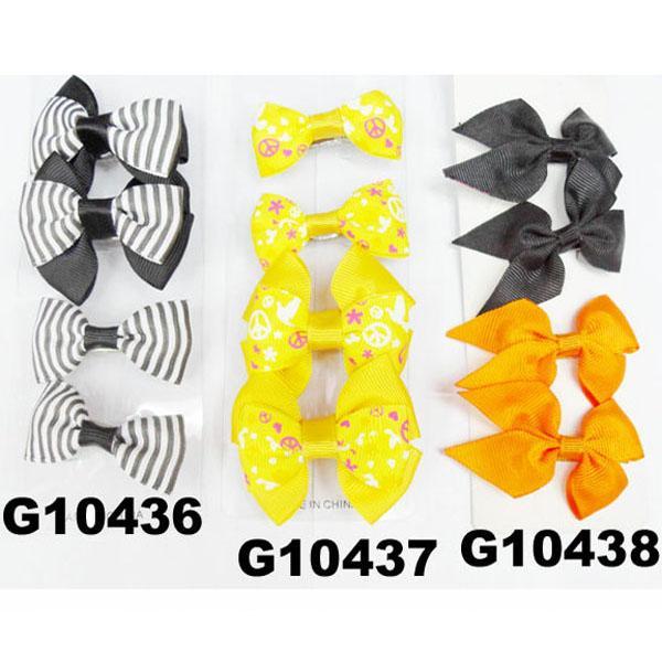 cheap wholesale mini small ribbon hair bows 6