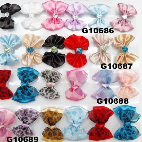 cheap wholesale mini small ribbon hair bows 9