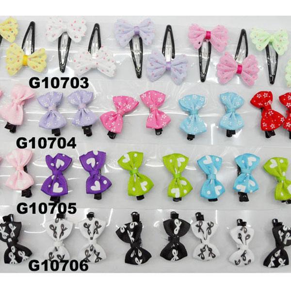 cheap wholesale mini small ribbon hair bows 10