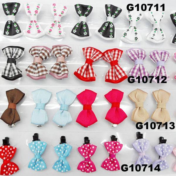 cheap wholesale mini small ribbon hair bows 1