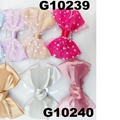 girls print chiffon fabric hair bow 9