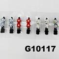 wholesale mini crystal stone flower black metal duck hair clip