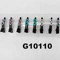 wholesale mini crystal stone flower black metal duck hair clip 2