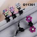 bridal wedding crystal stone mini flower hair claw clip