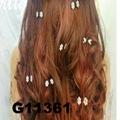 bridal wedding crystal stone mini flower hair claw clip 4