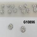 bridal wedding crystal stone mini flower hair claw clip 6