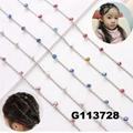 bridal wedding crystal stone mini flower hair claw clip 7