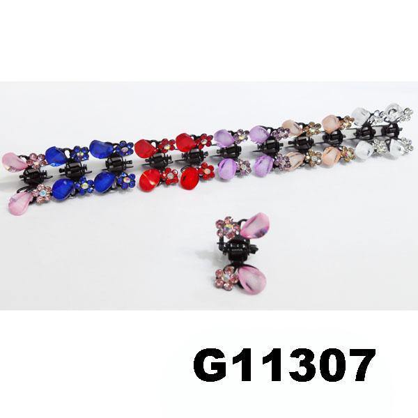 bridal wedding crystal stone mini flower hair claw clip 8