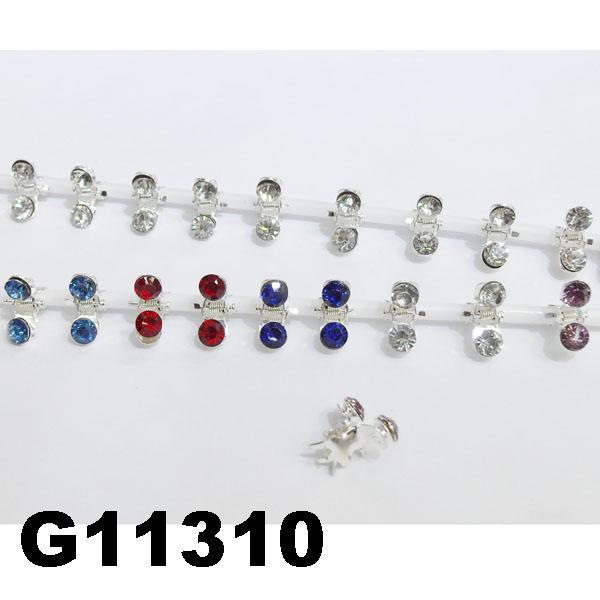 bridal wedding crystal stone mini flower hair claw clip 9