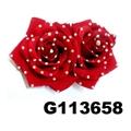 fashion women crystal stone rose flower