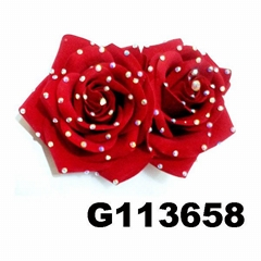 fashion women crystal stone rose flower hair clips