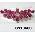 fancy wedding bridal women crystal stone flower hair clips