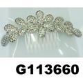 fancy wedding bridal women crystal stone flower hair clips 2