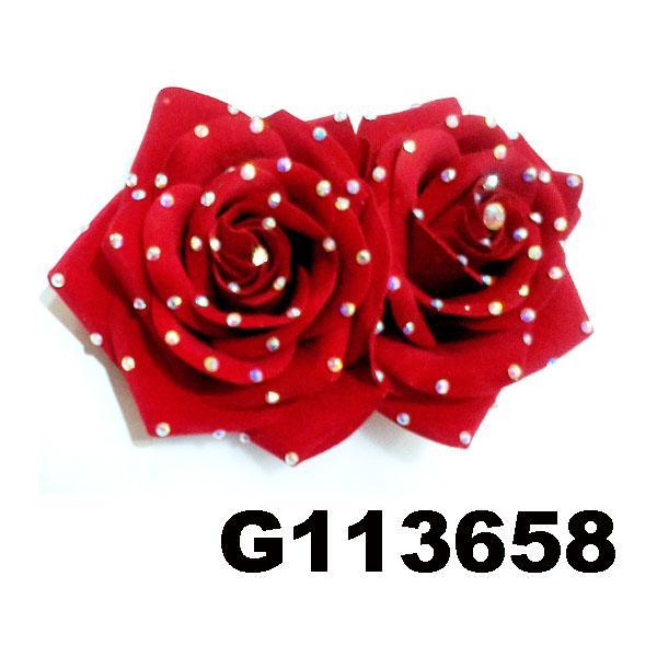 fancy wedding bridal women crystal stone flower hair clips 5