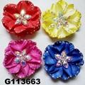 fancy wedding bridal women crystal stone flower hair clips 6