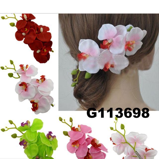 wedding bridal women hair flower hair clips 2