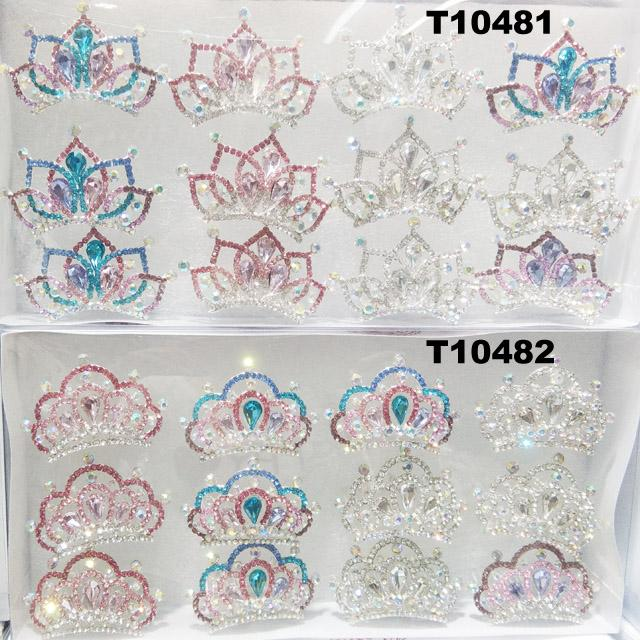 kids baby girls small glitter colorful crystal tiaras crowns wholesale 1