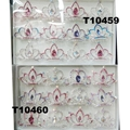kids baby girls small glitter colorful crystal tiaras crowns wholesale 3