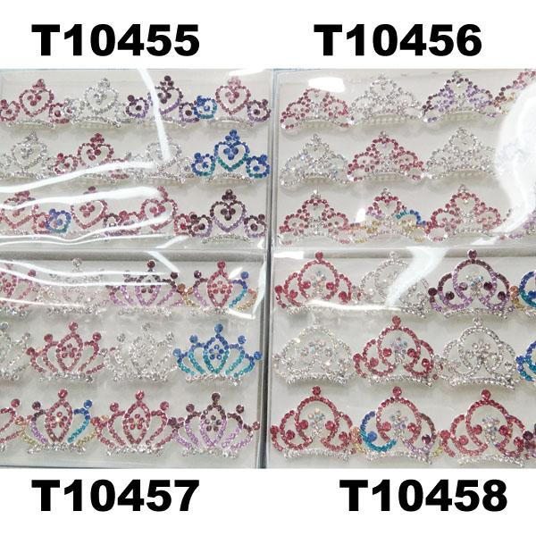 kids baby girls small glitter colorful crystal tiaras crowns wholesale 4