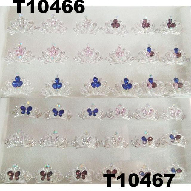 kids baby girls small glitter colorful crystal tiaras crowns wholesale 8