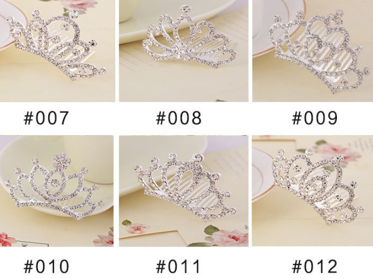 kids baby girls small glitter colorful crystal tiaras crowns wholesale 10