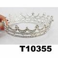 crystal stone moon boat round princess king crown