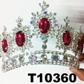 crystal stone moon boat round princess king crown 8