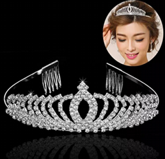 fashion glitter adult big crystal stone beauty pageant tiaras