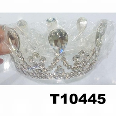 fashion shining adult big crystal stone round beauty pageant tiaras crowns