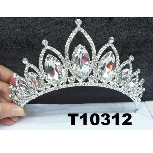 fashion shining adult big crystal stone round beauty pageant tiaras crowns 5