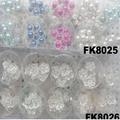 fashion women crystal pearl flower metal hair pin 8