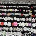fashion women crystal pearl flower metal hair pin 9