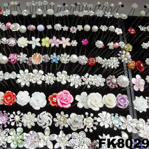 wholesale bridal wedding crystal stone flower hair pins 5