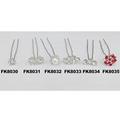 wholesale bridal wedding crystal stone flower hair pins 6