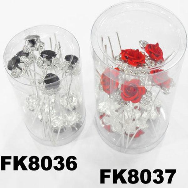 wholesale bridal wedding crystal stone flower hair pins 7