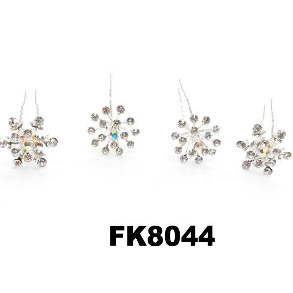 wholesale bridal wedding crystal stone flower hair pins 9