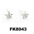 wholesale bridal wedding crystal stone flower hair pins 10