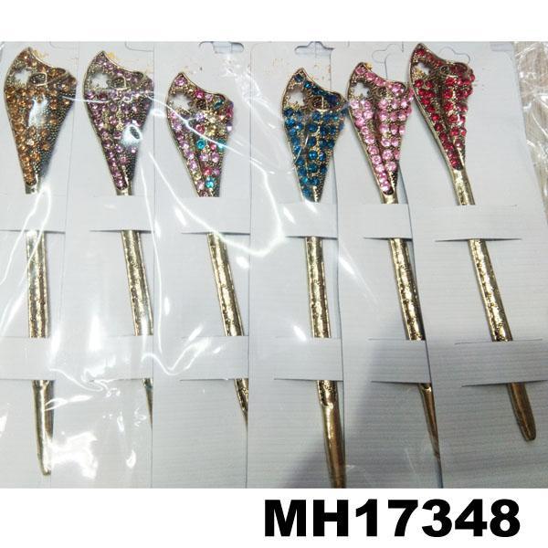 fashion women ladies crystal enamel flower metal hair pin 6