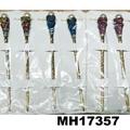 fashion women ladies crystal enamel flower metal hair pin 7