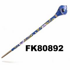 women ladies crystal blue enamel flower metal hair pins wholesale