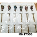 women ladies crystal stone pearl metal hair pin 2