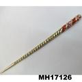 women ladies crystal stone pearl metal hair pin 3