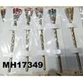 women ladies crystal stone pearl metal hair pin 5
