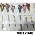 women ladies crystal stone pearl metal hair pin 6